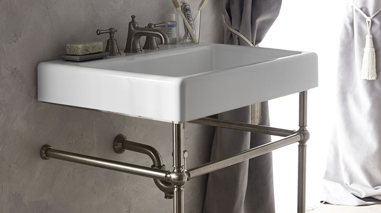 DXV Oak Hill Bathroom Sink With Console
